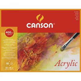 BL 10VL 4--ZIJDIG GELIJMD CANSON® ACRYLIC  36x48 400G FIJNE KORREL WIT