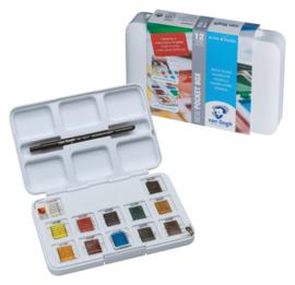 Van Gogh Aquarelverf in napje Pocket box 12 kleuren
