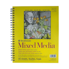 Strathmore-300-Series-Mixed-Media-Pad-Wire-Bound 22,9x30,5cm
