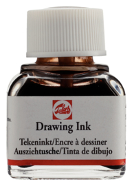 Watervaste tekeninkt 11 ml Flacon Sepia=OP=OP