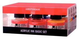 Amsterdam Acrylic Ink Set 6 X 30 ml