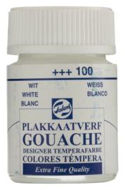 Plakkaatverf Extra Fijn 100 wit 16 ml