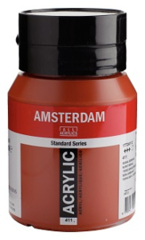 Amsterdam Standard  Sienna gebrand 411 500ml