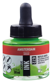 Amsterdam Acrylic ink  Reflexgroen 672
