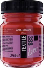 Amsterdam Textielverf Fles 50 ml Helderrood Dekkend 388
