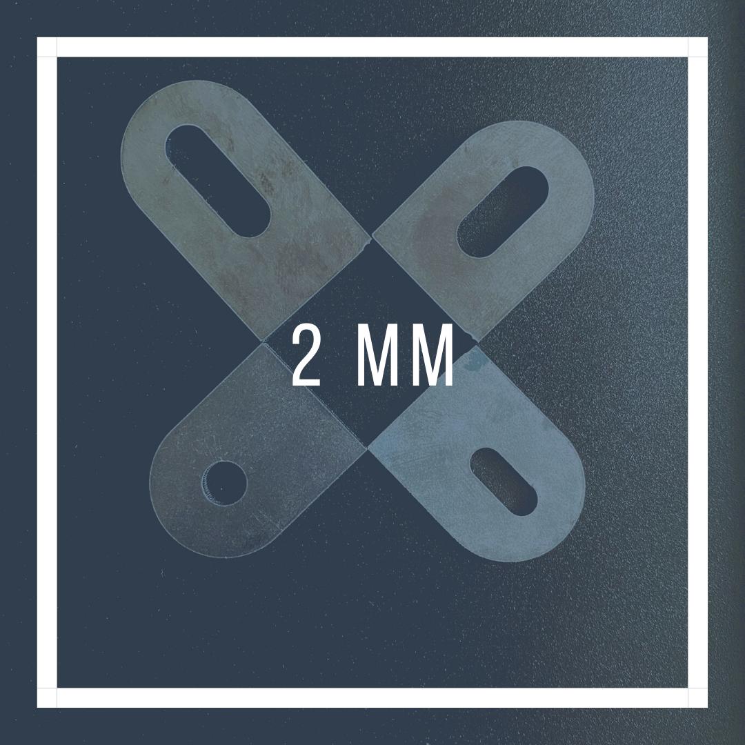 2mm laslipjes