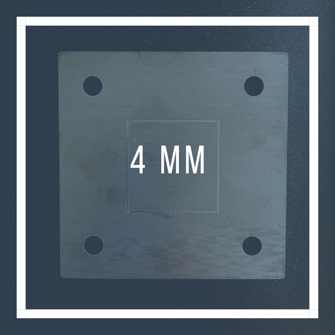 Voetplaat 4mm
