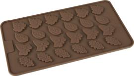 EIZOOK Kerst hulst -blaadjes vorm voor chocolade en fondant