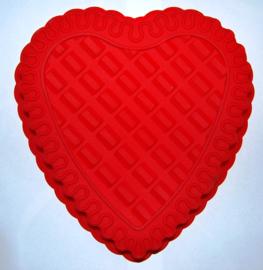 Silicone heart shape cake mold