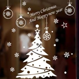 EIZOOK Raamsticker Kerstboom - Wit