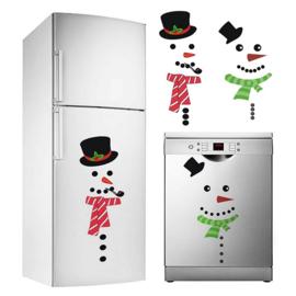 Set van 2 Sneeuwpop stickers
