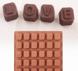 Alfabet en cijfers bakvorm cakevorm