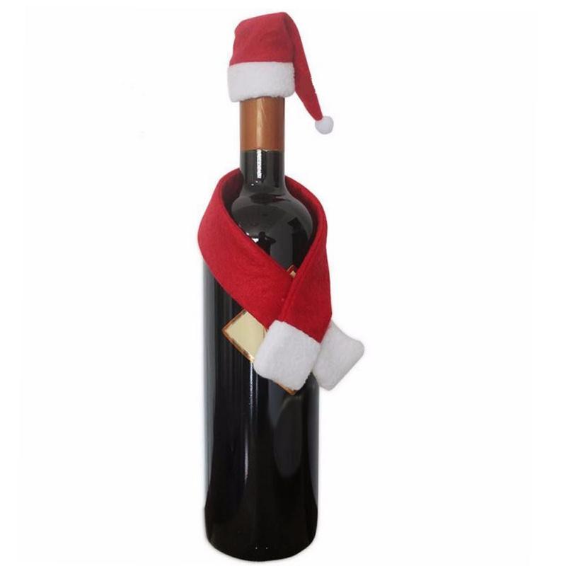 EIZOOK Kerst muts en sjaal voor fles