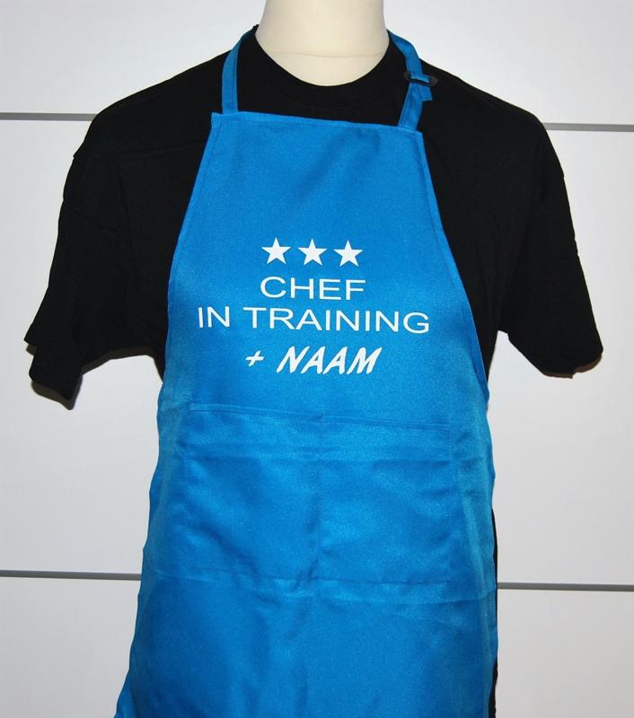 Keukenschort met eigen tekst!