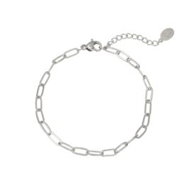 Armband zilverkleurig voor de Birth Flower hanger