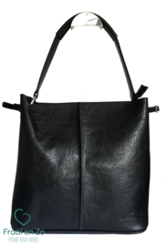 Zaza'z leather look tas zwart