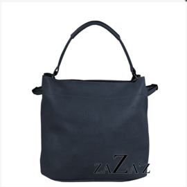 Zaza'z leather look tas blauw