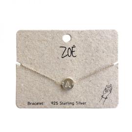 ZOË Armband Letter A