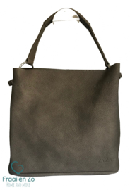 Zaza'z leather look tas taupe