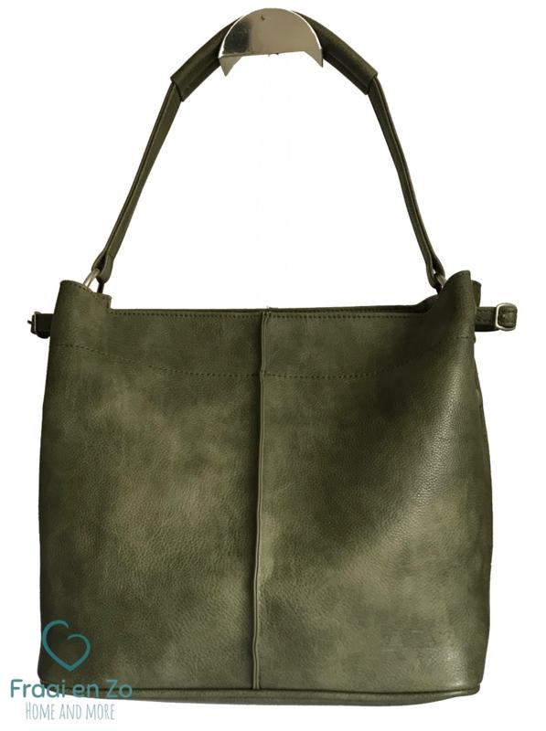 Zaza'z leather look tas groen