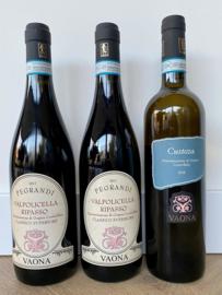 Vaona wijnpakket (3 flessen): 2x rood + 1x wit
