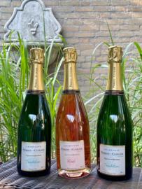 Pierson-Cuvelier champagnepakket (3 flessen): Tradition Brut Grand Cru (2x) + Rosé Premier Cru (1x)