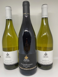 Maso Grener actie wijnpakket (3 flessen): Bianco (2x) + Vignabindesi Pinot Nero (1x)