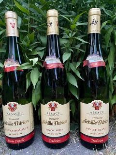 Achille Thirion wijnpakket (3 flessen): Pinot Blanc, Pinot Gris, Gewurztraminer