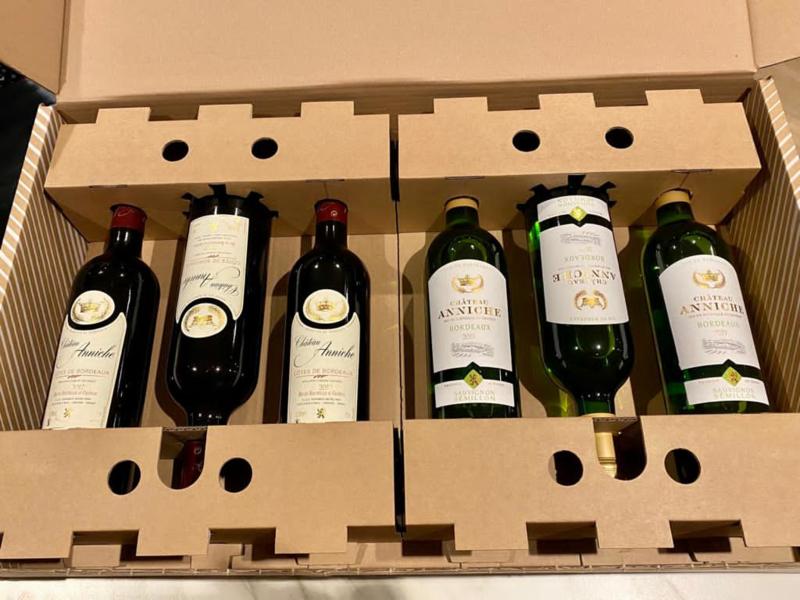 Chateau Anniche wijnpakket (6 flessen): 3x rood + 3x wit