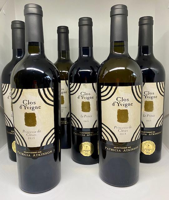 Clos d'Yvigne wijnpakket (6 flessen): Princesse (3x) en Le Prince (3x)