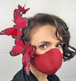 Maskinator Dames - Red Butterfly