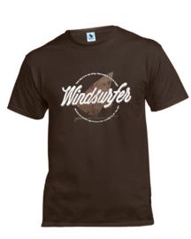 Windsurfer T-Shirt Grunge (Chocolate)