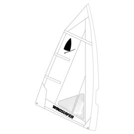 Windsurfer LT Absolute White Race Sail 5.7