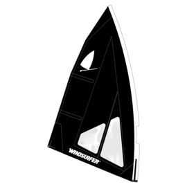 Windsurfer LT Jet Black Race Sail 5.7