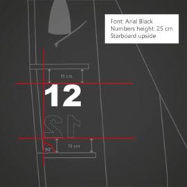 Personal Sail Number Set (Black/White)