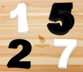 Personal Sail Number Set (Black/White)