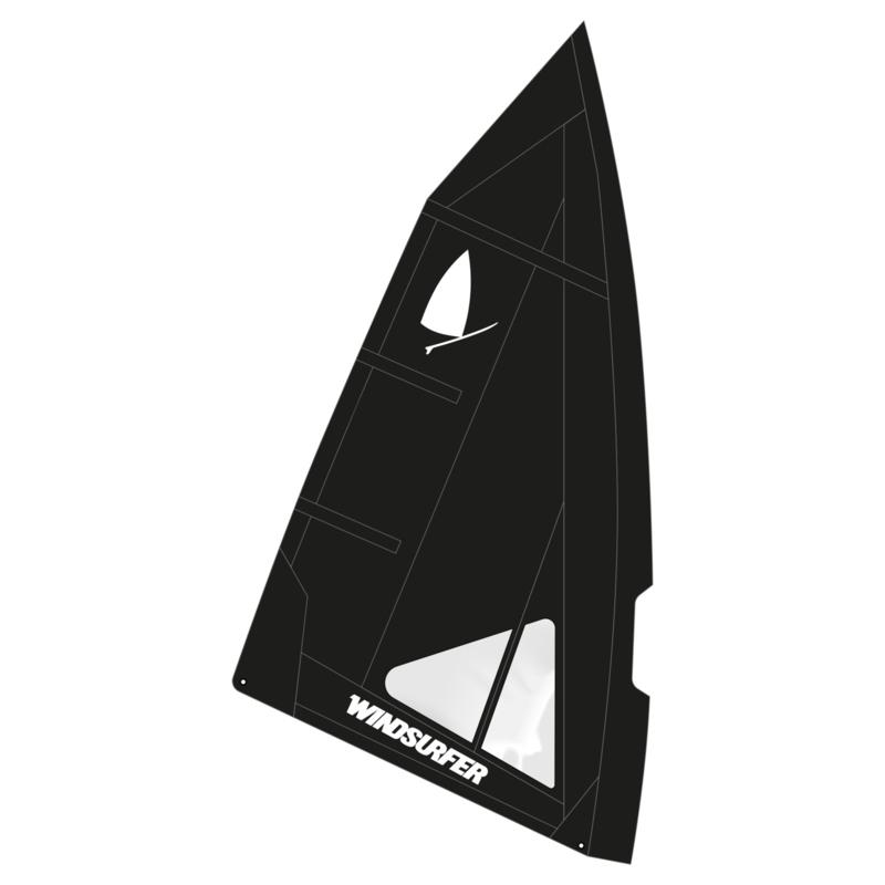 Windsurfer LT Full Black Race Sail 5.7