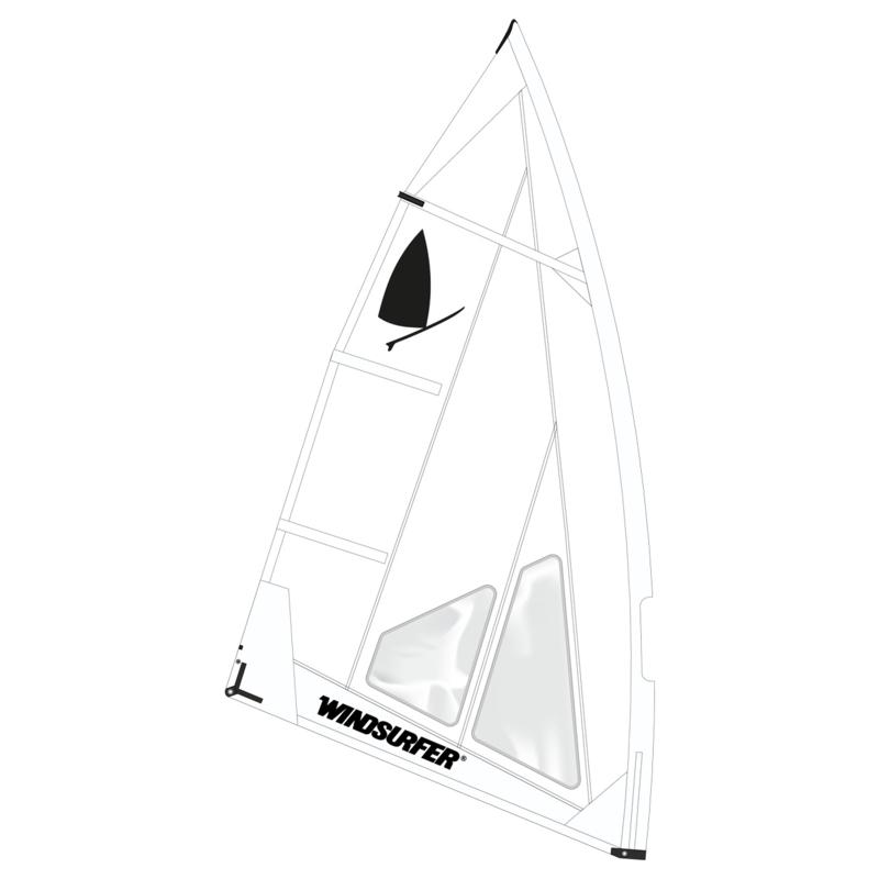 Windsurfer LT Absolute White Race Sail 5.7
