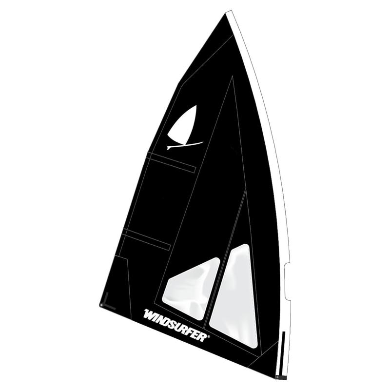 Windsurfer LT Jet Black Race Sail 5.7