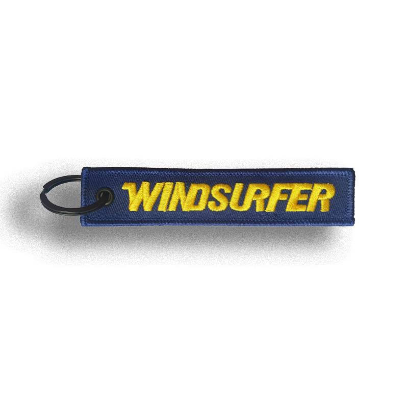 Windsurfer Keyring Tag (Blue)