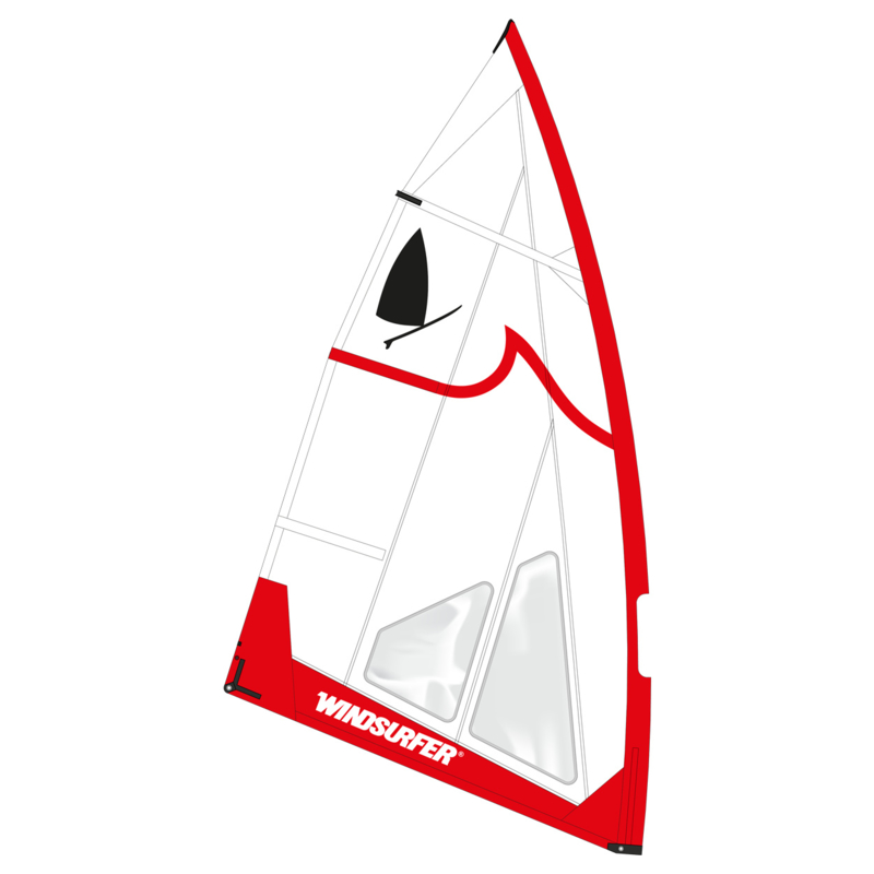 Windsurfer LT Red Wave Race Sail 5.7 Limited Edition