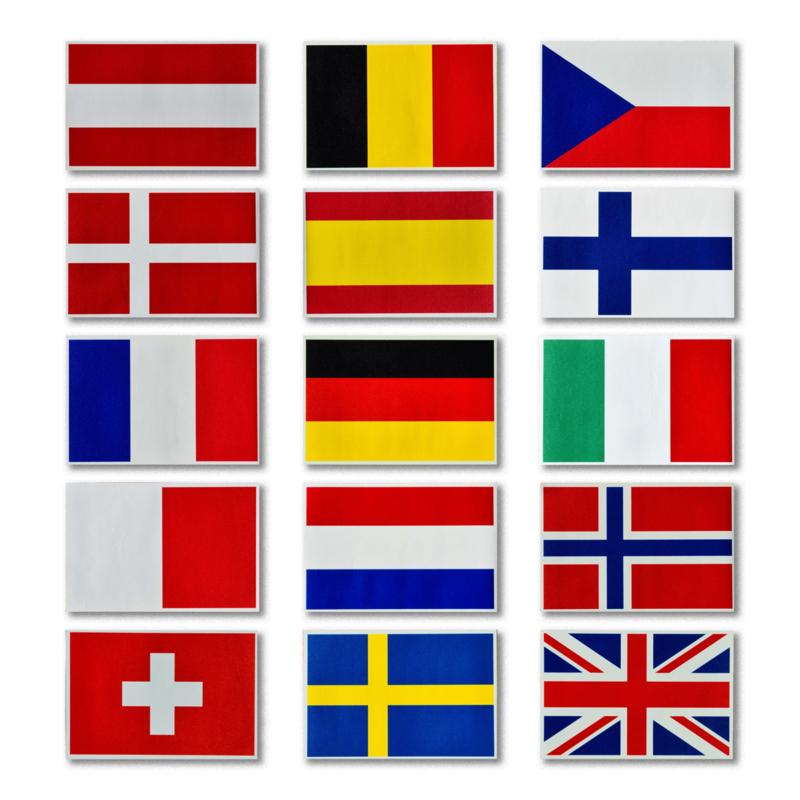 Country Flag Sticker (Set of 2 pcs)