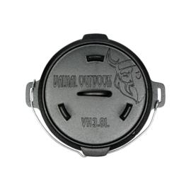Valhal Outdoor - Dutch Oven 3.8L zonder pootjes