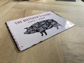 Butcher's guide | varken | 20 x 30cm | metaal