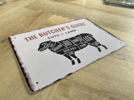 Butcher's guide | Lam | 20 x 30cm | metaal