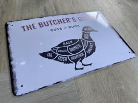 BBQ | Butcher's guide | duck | 20 x 30cm | metaal