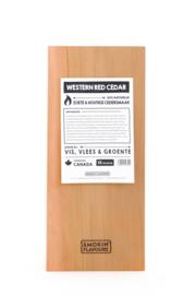 Smokin' Flavours cederhouten plank 45x20cm