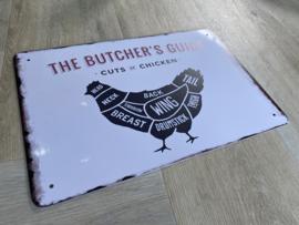 BBQ | Butcher's guide | chicken | 20 x 30cm | metaal