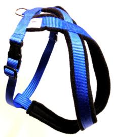 Maat M cobaltblauw, fleece gevoerd, buikriem verstelbaar