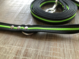 Zwart met neon groen